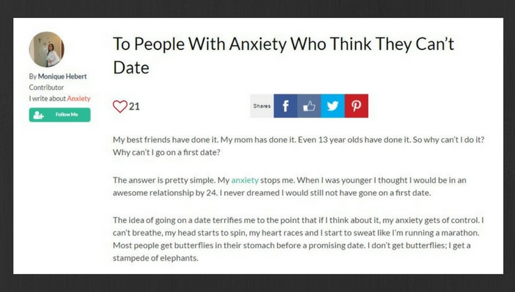dating a girl with anxiety Gurl 101 7 signs you need to dating, friendship here are 10 things you have to know about dating someone who is depressed hopefully this helps.